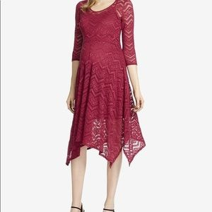 Gorgeous Red Lace Maternity Dress